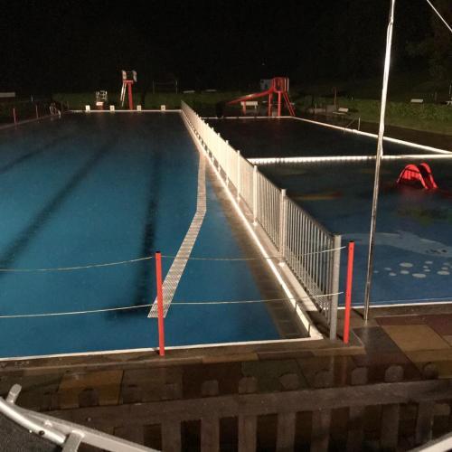 Freibad Schieder - Hochwasser